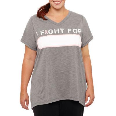 Xersion Short Sleeve Crew Neck Graphic T-Shirt-Plus