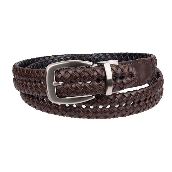 Stafford® Men's Braided Reversible Belt with Metal Keeper