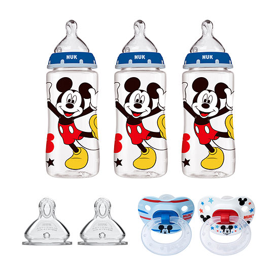 Nuk Mickey Mouse Bottle Pacifier Newborn Set