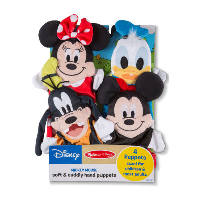 Melissa & Doug Mickey Mouse & Friends Soft & Cuddly Hand Puppets 4-pc. Interactive Toy - Unisex
