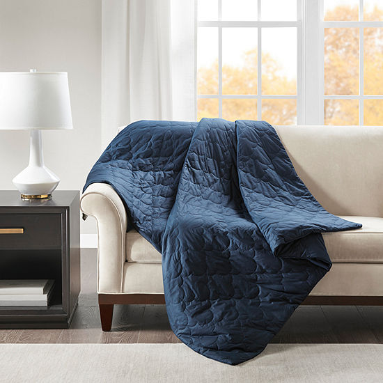 Beautyrest Deluxe Quilted Cotton Removable Cover Weighted Blanket