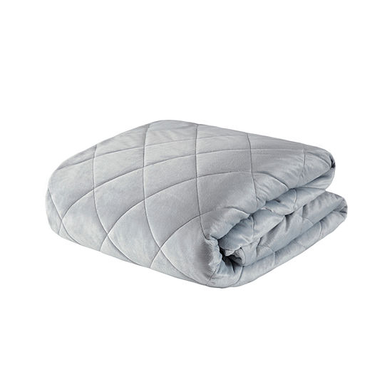 Beautyrest Luxury Quilted Mink Weighted Removable Cover Blanket