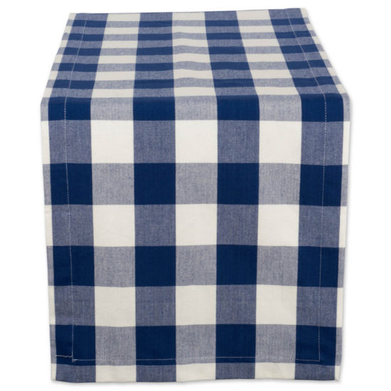 "Tickled Pink 108"" X 14"" Buffalo Check Table Runner"