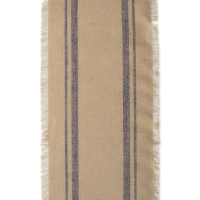 "Tickled Pink Mineral 108"" X 14"" Double Border Burlap Table Runner"