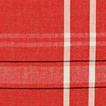 "Tickled Pink Tango Red 72"" X 14"" French Chambray Table Runner"