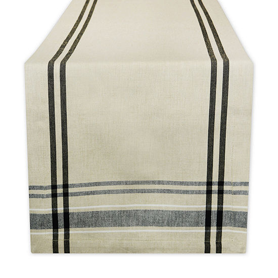 """Tickled Pink Red 72"""" X 14"""" French Stripe Table Runner"""