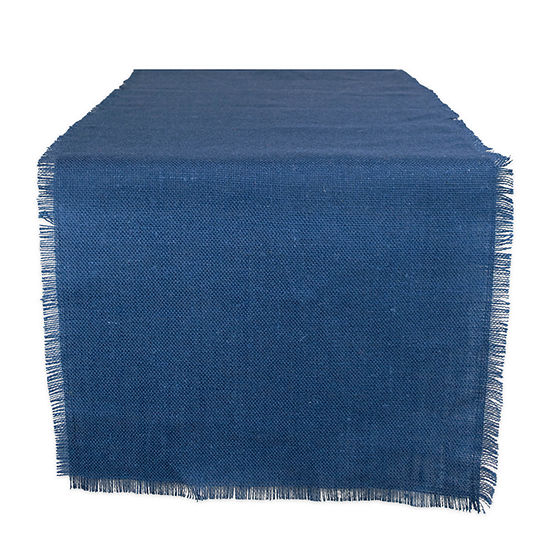 "Tickled Pink Nautical Blue 48"" X 15"" Jute Table Runner"