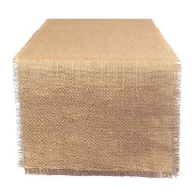 """Tickled Pink Natural 74"""" X 15"""" Jute Table Runner"""