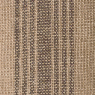 "Tickled Pink Mineral 72"" X 14"" Middle Stripe Burlap Table Runner"