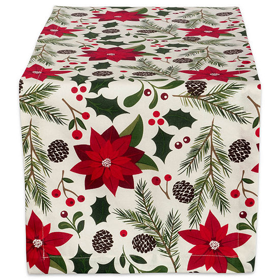 "Tickled Pink Woodland Christmas 108"" X 14"" Table Runner"