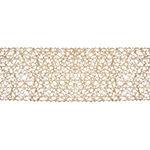 "Tickled Pink Taupe 72"" X 14"" Woven Paper Table Runner"
