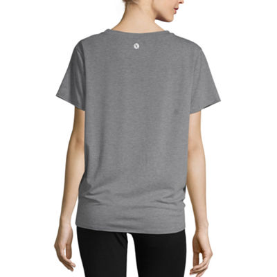 Xersion Front Tie Graphic Tee