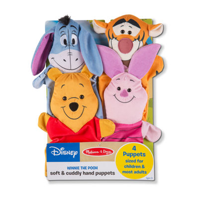 Melissa & Doug Winnie The Pooh Soft & Cuddly Hand Puppets 4-pc. Interactive Toy - Unisex