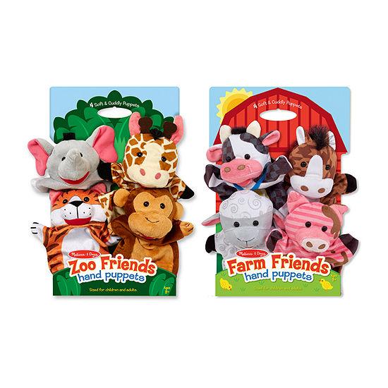 Melissa & Doug Hand Puppet Bundles - Farm & Zoo Friends