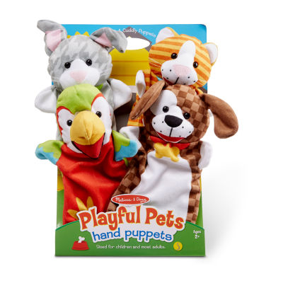 Melissa & Doug Playful Pets Hand Puppets 4-pc. Interactive Toy - Unisex