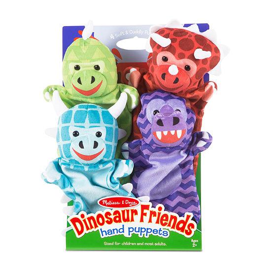 Melissa & Doug Dinosaur Friends Hand Puppets 4-pc. Interactive Toy - Unisex