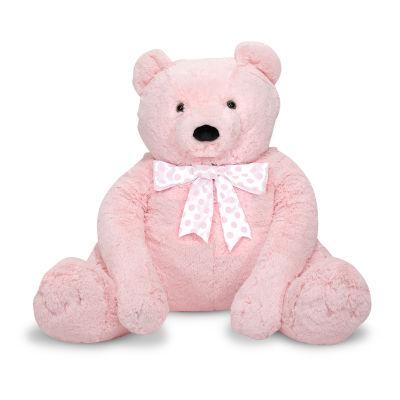 Melissa & Doug Jumbo Pink Teddy Bear Interactive Toy - Unisex