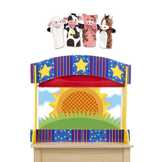 Melissa & Doug Tabletop Puppet Theater And Farm Friends  5-pc. Interactive Toy - Unisex