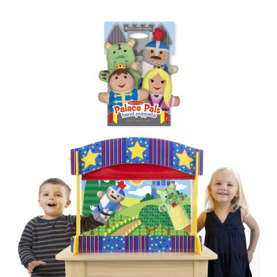 Melissa & Doug Tabletop Puppet Theater And Palace Pals Puppets Bundle 5-pc. Interactive Toy - Unisex