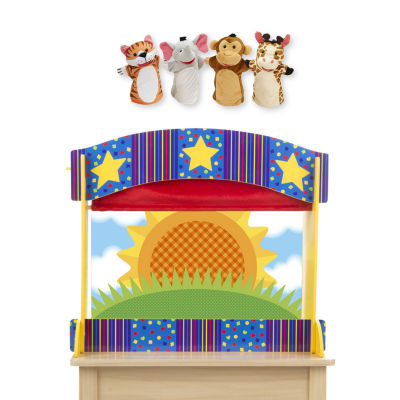 Melissa & Doug Tabletop Puppet Theater And Zoo Friends Puppets Bundle 5-pc. Interactive Toy - Unisex