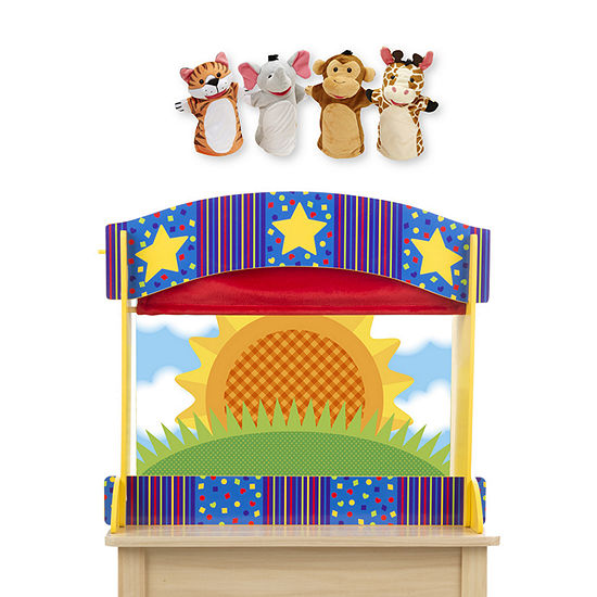 Melissa & Doug Tabletop Puppet Theater And Zoo Friends Bundle 5-pc. Interactive Toy - Unisex
