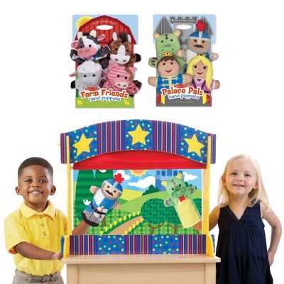 Melissa & Doug Let'S Play Puppet Pals Bundle 9-pc. Interactive Toy - Unisex