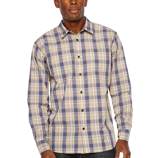 Dickies® Relaxed Fit Icon Long Sleeve Rinsed Plaid Shirt