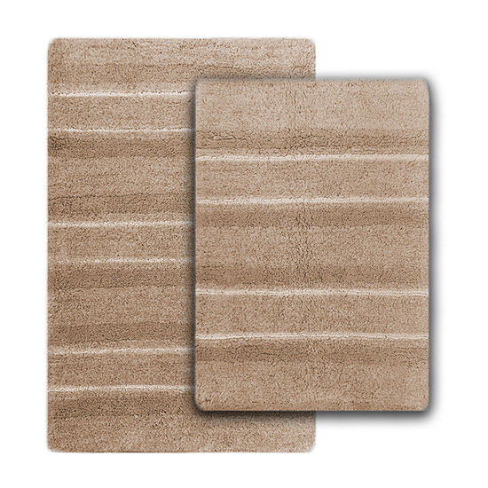 Penumbra Home Miraldo Stripe 2-pc. Bath Rug Set