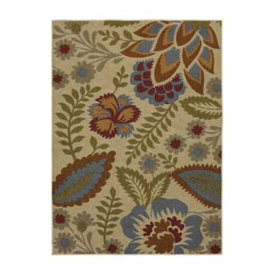 Mohawk Home Soho Crewel Floral Printed Rectangular Indoor Accent Rug