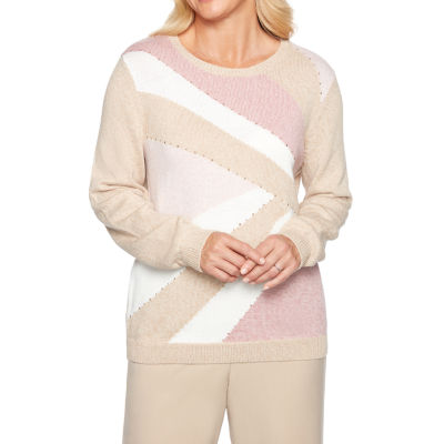 Alfred Dunner Home For The Holidays Long Sleeve Round Neck Pullover Sweater