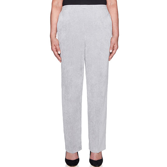 Alfred Dunner Stocking Stuffers Womens High Waisted Straight Flat Front Pant