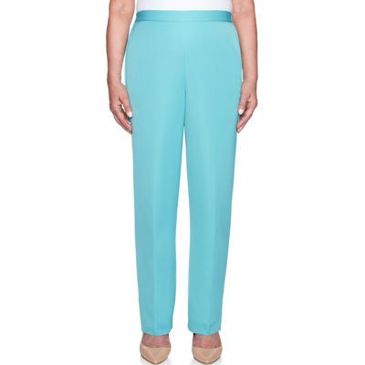 Alfred Dunner Simply Irresistable Womens High Waisted Straight Pull-On Pants