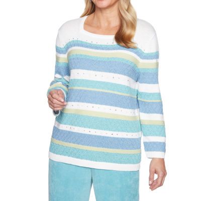 Alfred Dunner Simply Irresistible Texture Biadere Sweater
