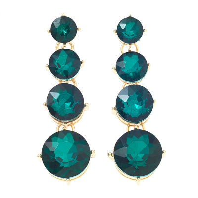 Bijoux Bar Green Drop Earrings