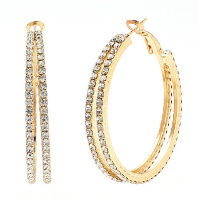 Bijoux Bar 2 1/2 Inch Hoop Earrings