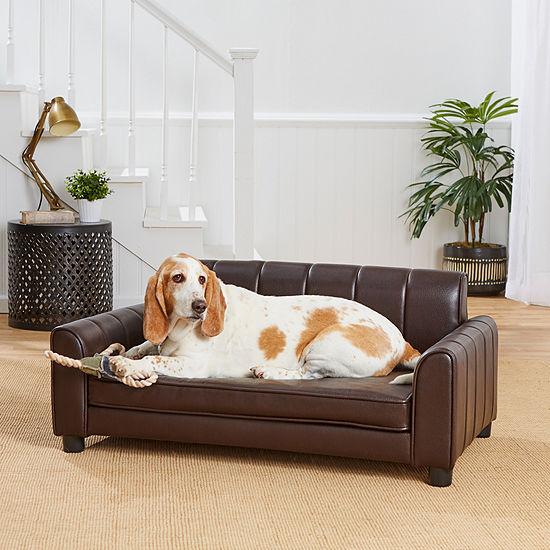 Enchanted Home Pet Ludlow Pet Sofa Brown