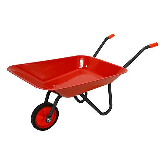 Red Metal Wheelbarrow