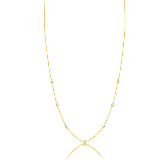 Womens 1/4 CT. T.W. Genuine Diamond 10K Gold Strand Necklace