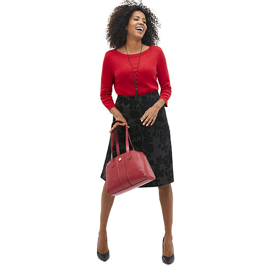 Sparkle and Shine: Liz Cabaret Red Sweater with Riding Skirt and Pumps