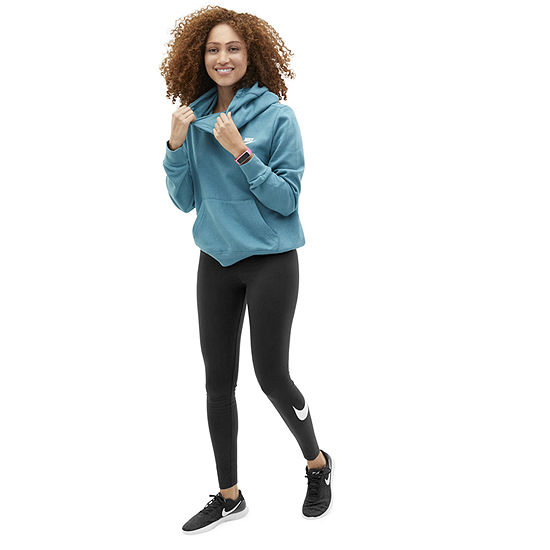 Shop the Look: Nike Teal Cowl Neck Hoodie with Legging