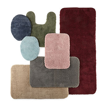 Jcpenney Home Ultima Bath Rug Collection Color Dark Chocolate Jcpenney