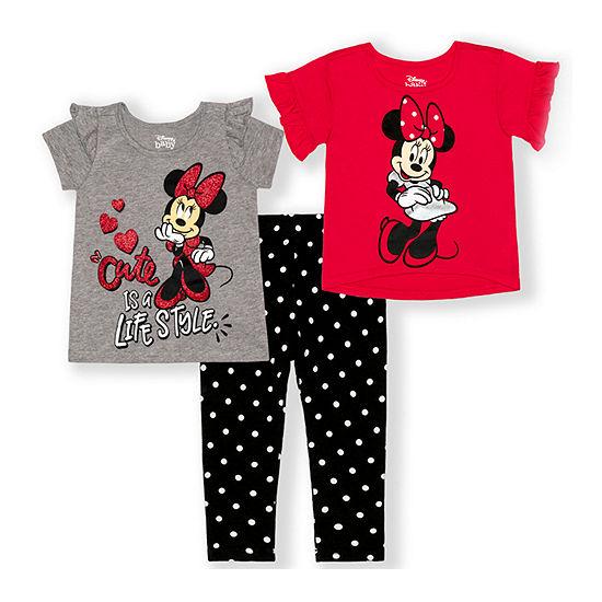 Disney Toddler Girls 3-pc. Minnie Mouse Legging Set