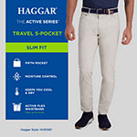 Haggar® The Active Series™ Travel 5-Pocket Ripstop Slim Fit Flat Front Pant