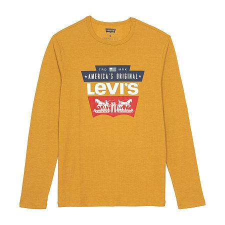 Levi's Men's Long Sleeve Thermal T-Shirt, Large , Yellow
