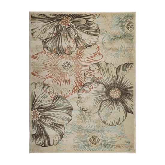 Garda Modern Abstract Floral Area Rug