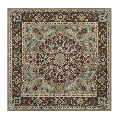Safavieh Heritage Collection Raeburn Oriental Square Area Rug