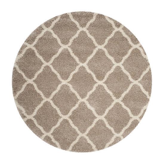 Safavieh Hudson Shag Collection Weldon Geometric Round Area Rug