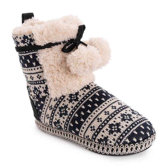 Muk Luks Gracilyn Womens Bootie Slippers