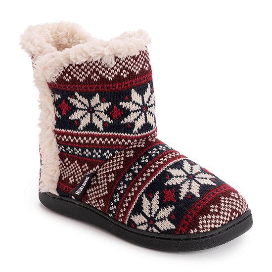 Muk Luks Cheyenne Womens Bootie Slippers
