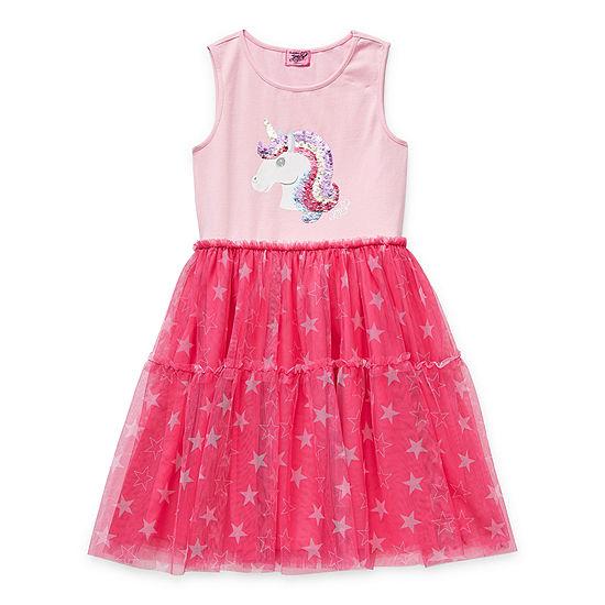 Jojo Siwa Little & Big Girls Sleeveless Tutu Dress